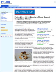 2012 Signature Plated Dessert Competition Winners
