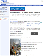 Pastry Live 2014 – Art of Cake Finalists Announced