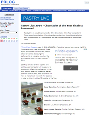 Pastry Live 2014 – Chocolatier of the Year Finalists Announced
