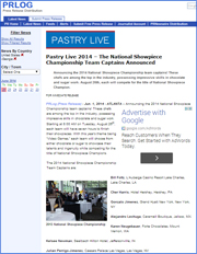 Pastry Live 2014 – The National Showpiece Championship Team Captains Announced