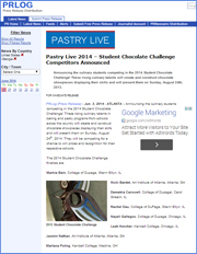 Pastry Live 2014 – Student Chocolate Challenge Competitors Announced