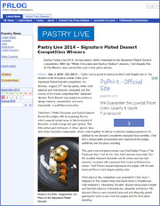 Pastry Live 2014 – Signature Plated Dessert  Competition Winners