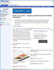 Pastry Live 2014 – Signature Plated Dessert Finalists Announced