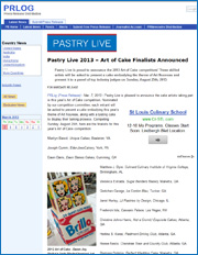 Pastry Live 2013 - Art of Cake Finalists Announced
