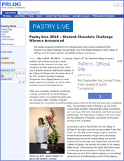 Pastry Live 2014 – Student Chocolate Challenge Competition Winners