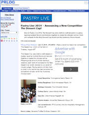 Pastry Live 2014 – Announcing a New Competition-The Dessert Cup!