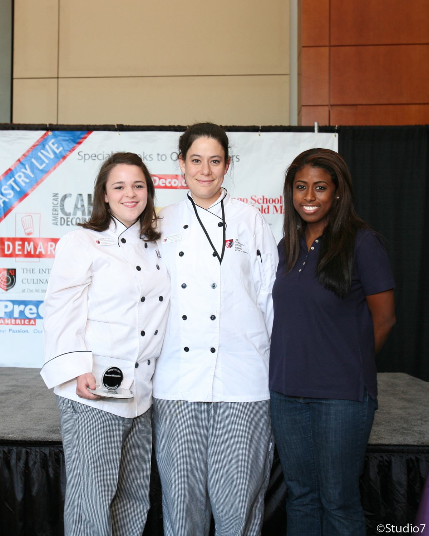 (From left to right) 1st: Elizabeth Seiz, 2nd: Breanna Kinkead, 3rd: Jennifer Tyler